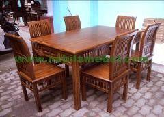 Meja Makan Natural merupakan produk inovasi pengrajin jepara berpengalaman yang merupakan produk furniture jati mebel jepara