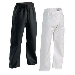 Student Karate Pants Elastic Waist - Look good for less. A traditional, gusseted karate pants with elastic waist are made of a cotton/polyester blend for easy care. Imported. 7.25 oz. middleweight. http://www.karatesupply.com/Student-Karate-Pants-Elastic-Waist_p_1746.html #karatepants #martialartspants