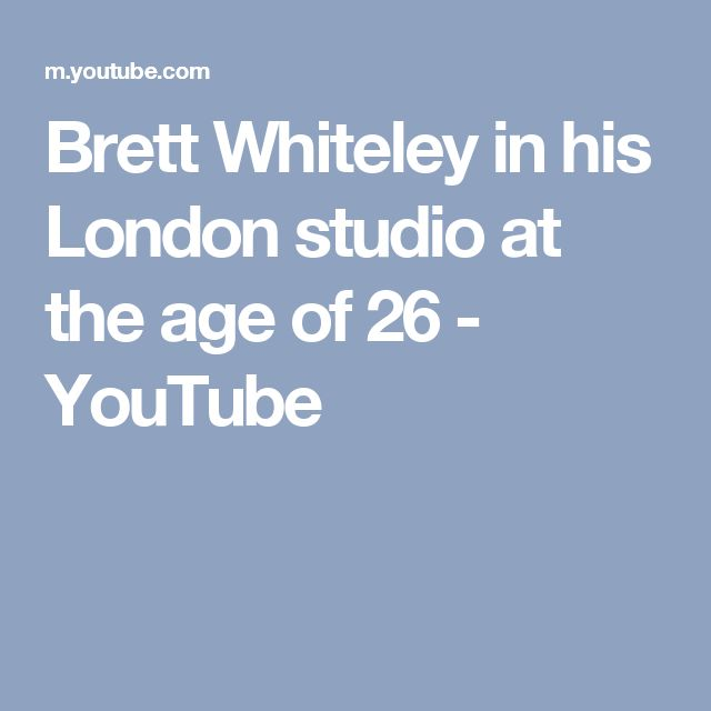 Brett Whiteley in his London studio at the age of 26 - YouTube