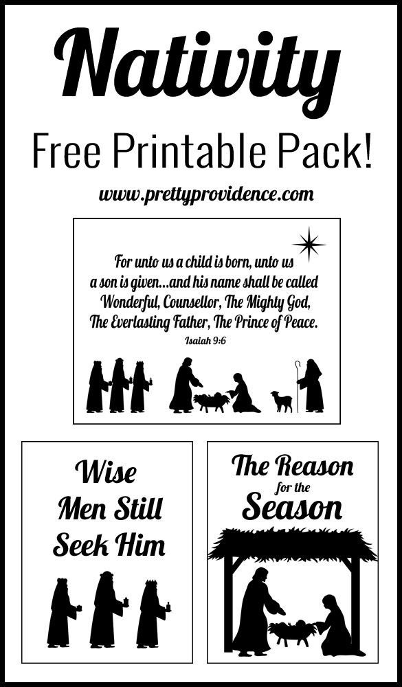 I love these nativity themed free printables! An easy, great way to keep the true meaning of Christmas central in your home!: