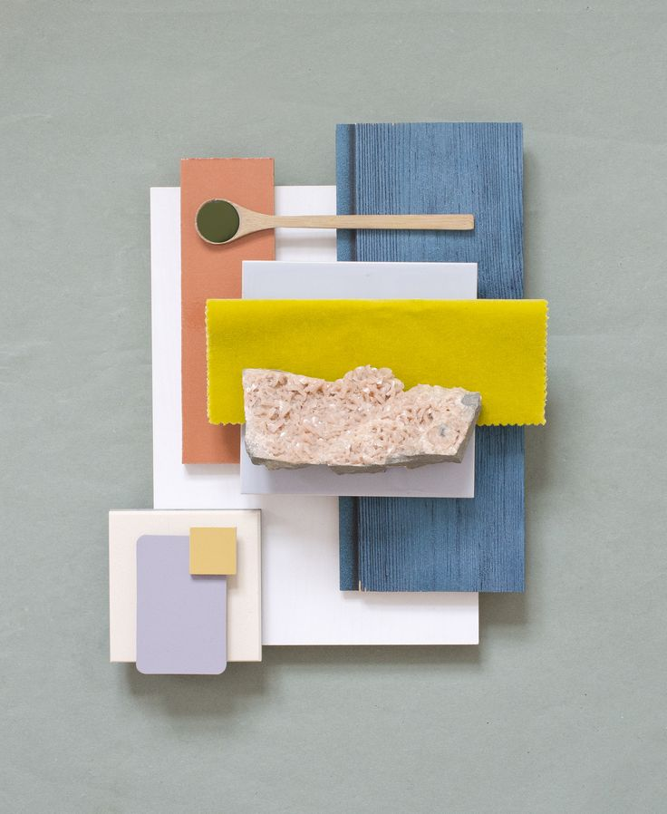 Material concept for a private residence 〰 Ceramic Tiles & Colored Wood