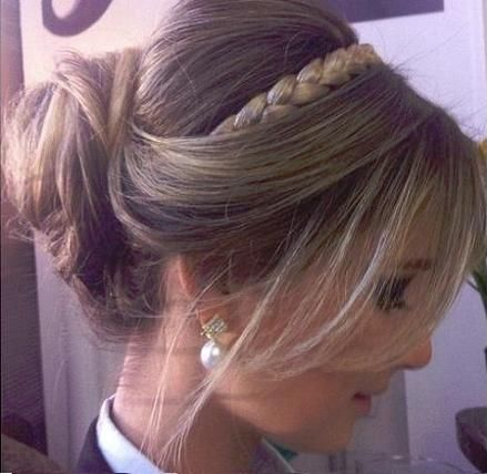 I could do this with my headband braid hair piece.
