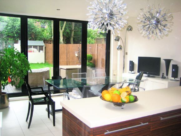 25 best bifold patio doors images on pinterest windows for Victorian terrace dining room ideas