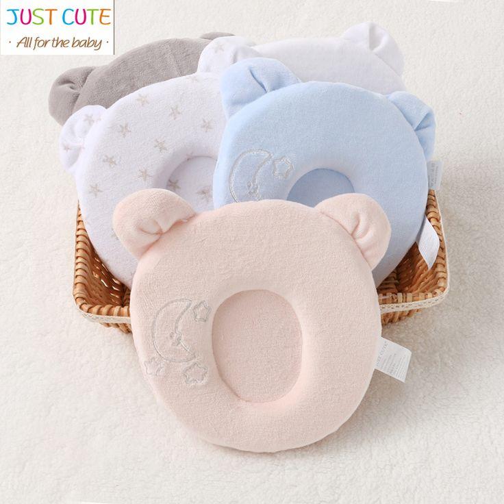 6 estilos just cute adorable bebé de marca de alta calidad anti-migraña almohada cóncava forma almohadas de espuma de memoria