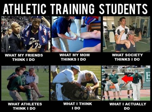 REAL LIFE OF ATHLETIC TRAINING STUDENTS. KRYS SHOW THIS TO NICK!!!!