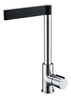 NEW ultra Modern Black Single Handle Chrome Swivel Kitchen Sink Faucet Tap mixer