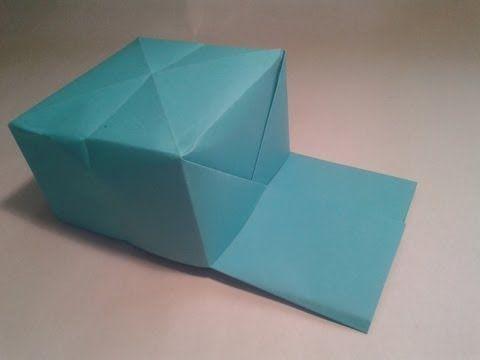 Origami - How to make an easy baseball hat - YouTube