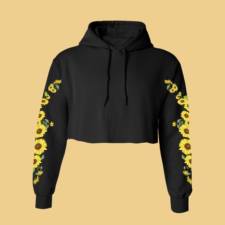 FLOWER CHILD- SOFT GRUNGE-SUNFLOWER HOODIE Jumper
