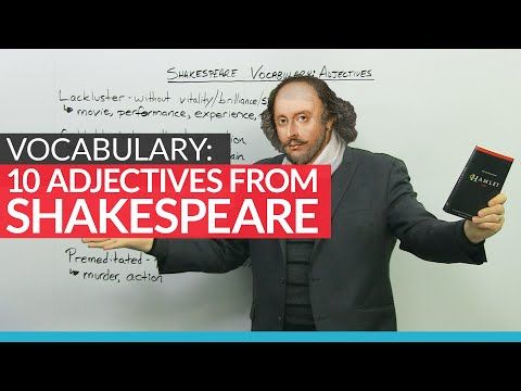 English Vocabulary: 10 adjectives invented by Shakespeare - YouTube