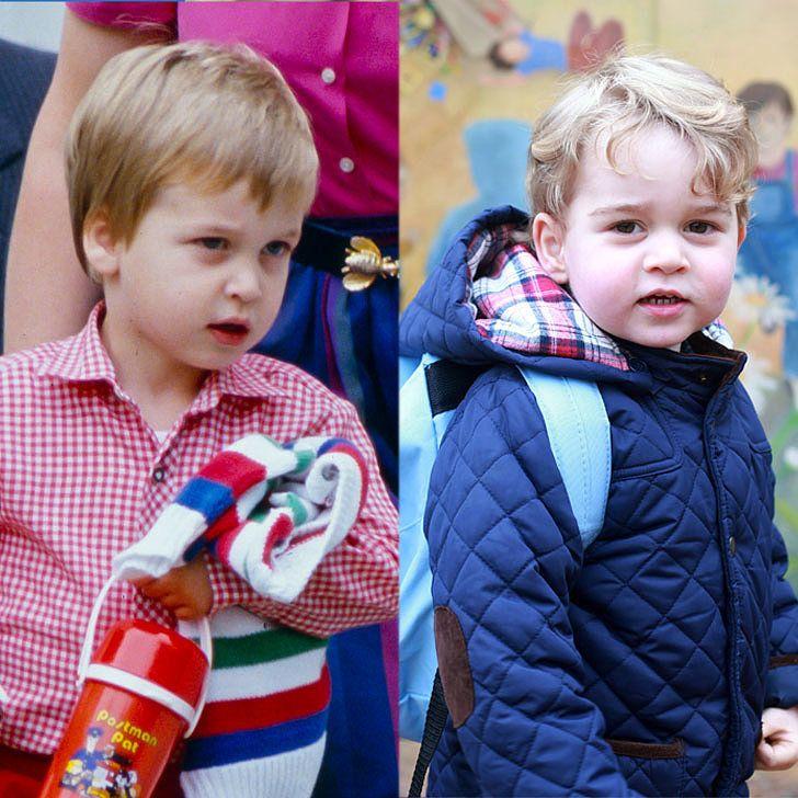 Wie der Vater so der Sohn! Siehe Prinz William und Prinz Georges ersten Tagen des Vorschul Side by Side