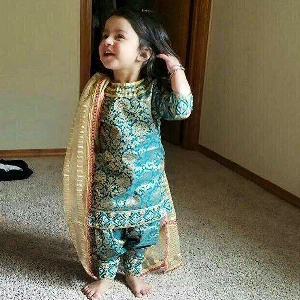 Punjabi Baby Girl Suits  Cute Punjaban  Kids Suits, Kids -4452