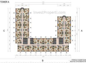 Floor Plan Kota Ayodhya Tahap 1