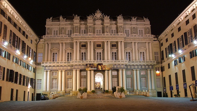 The entrance of Palazzo Ducale, in the historic center of Genoa