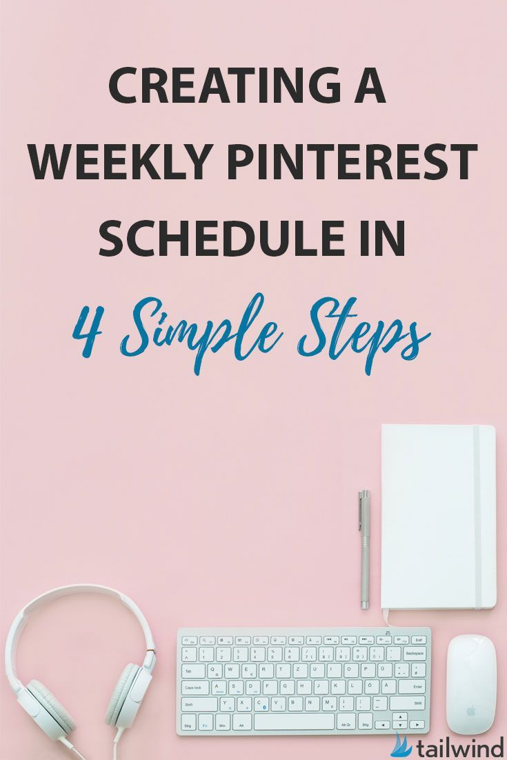 Creating a weekly Pinterest schedule in 4 simple steps | Want to grow your Pinterest traffic? Then you know that you need to be consistent. Use these Pinterest scheduling tips right away.