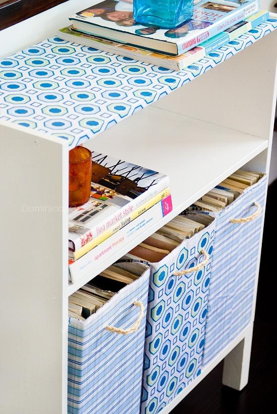 Magazine boxes.    ideas for my fall apart ikea magazine holders.