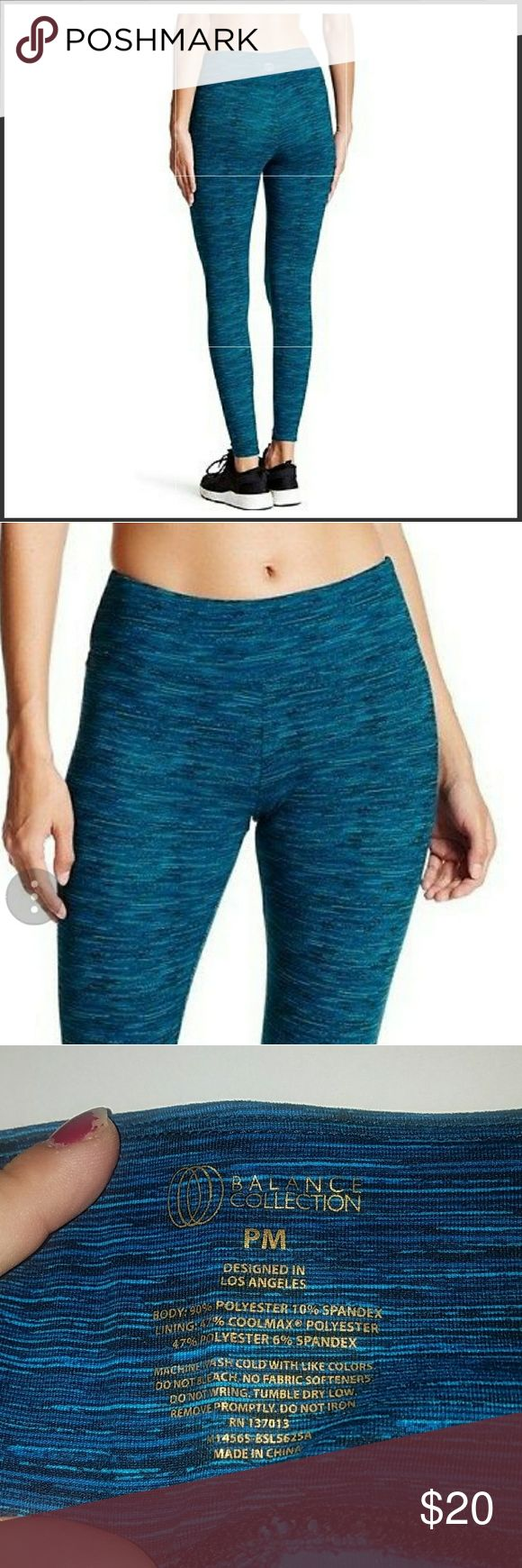 Yoga/gym pants Petite size medium from balance collection with advance knitting technology that draws moisture from the skin to the fabrics outer surface where it's spreads to evaporate quickly.the fabric has been brushed to give it a soft comfortable feel. Petite size medium fits sizes 10 to 12 balance collection Pants Leggings