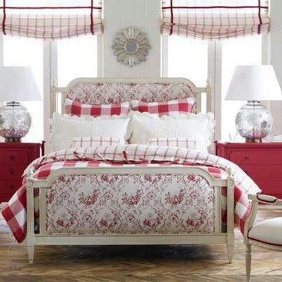 53 best images about check it out in red on pinterest buffalo plaid toile and gingham quilt for Ethan allen country french bedroom