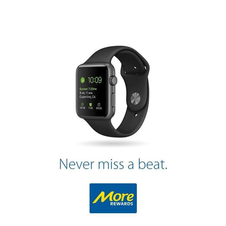 Instantly receive and respond to your favourite notifications. Get the motivation you need to stay active and healthy. Express your personal style in a whole new way. From the way it works to the way it looks, Apple Watch isn't just something you wear. It's an essential part of who you are.  Learn More: https://www.morerewards.ca/…/apple-watch-sport-space-grey-a…