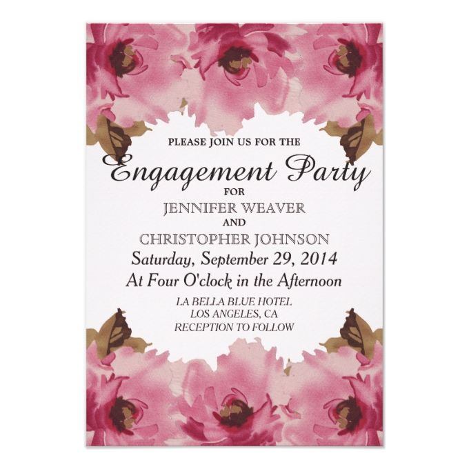 2628 best images about Engagement Party Invitations – Reception Party Invitations