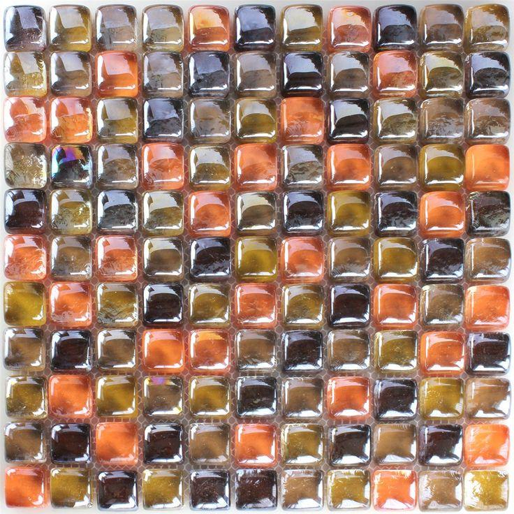 Mozaïektegel Glas Paarlemoer Effect Bruin Beige