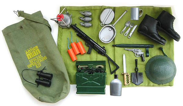 Action Man Special Operations Kit. I loved the cutlery in the mess tin. The fuses always broke off the dynamite though.