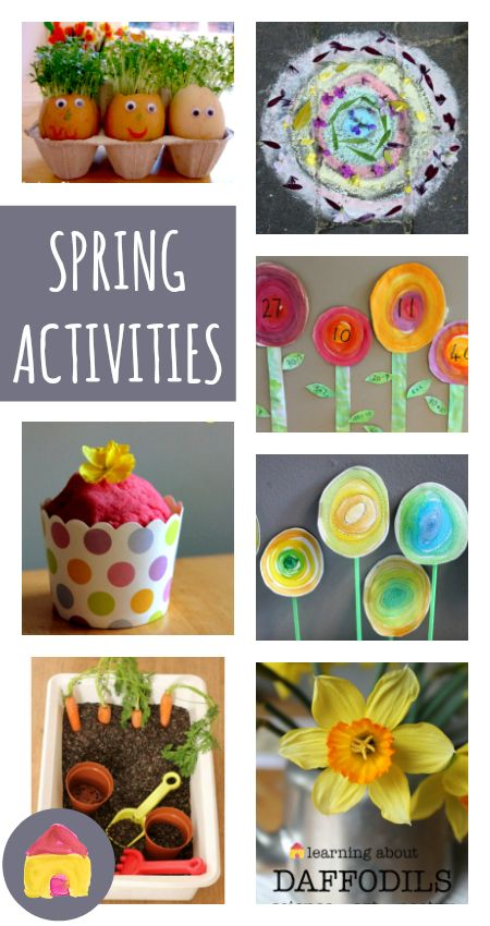 A complete resource of spring activities for children :: spring crafts, art, math, literacy, science and play