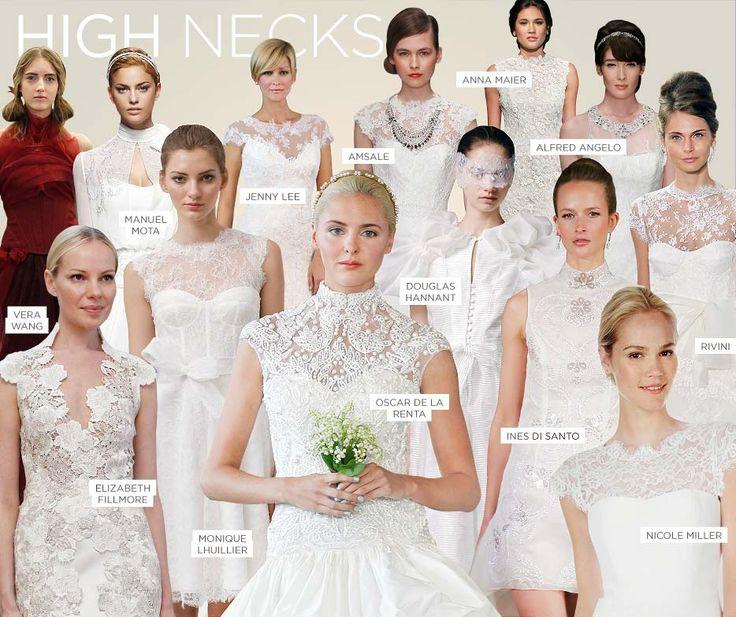 High Neck dresses: Dresses Inspiration, Wedding Dresses, High Neckline, High Neck Dresses, Wedding Gowns, Dresses Ideas, Dresses Trends, Gowns Trends, Dresses Gowns Tuxes
