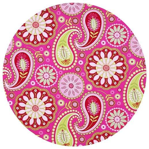Pink Paisley and white cabinet drawer knobs pulls white, set of 6 on Etsy, $24.00