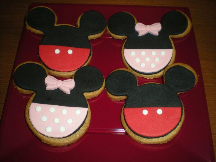 Galletas de Mickey y Minnie, para un cumple!!