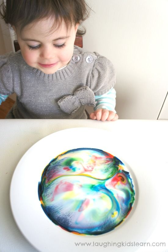 Lots of colours in this science experiment about colour