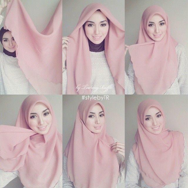 inspirasi hijab padu padan white