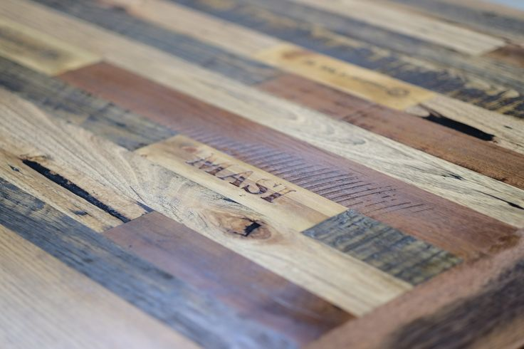 recycled timber texture vintage wine inlay