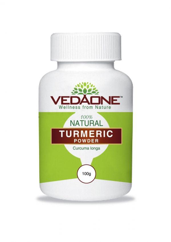 Vedaone Turmeric Haldi Curcuma longa Spice Allergy & Inflammation Powder/V Caps