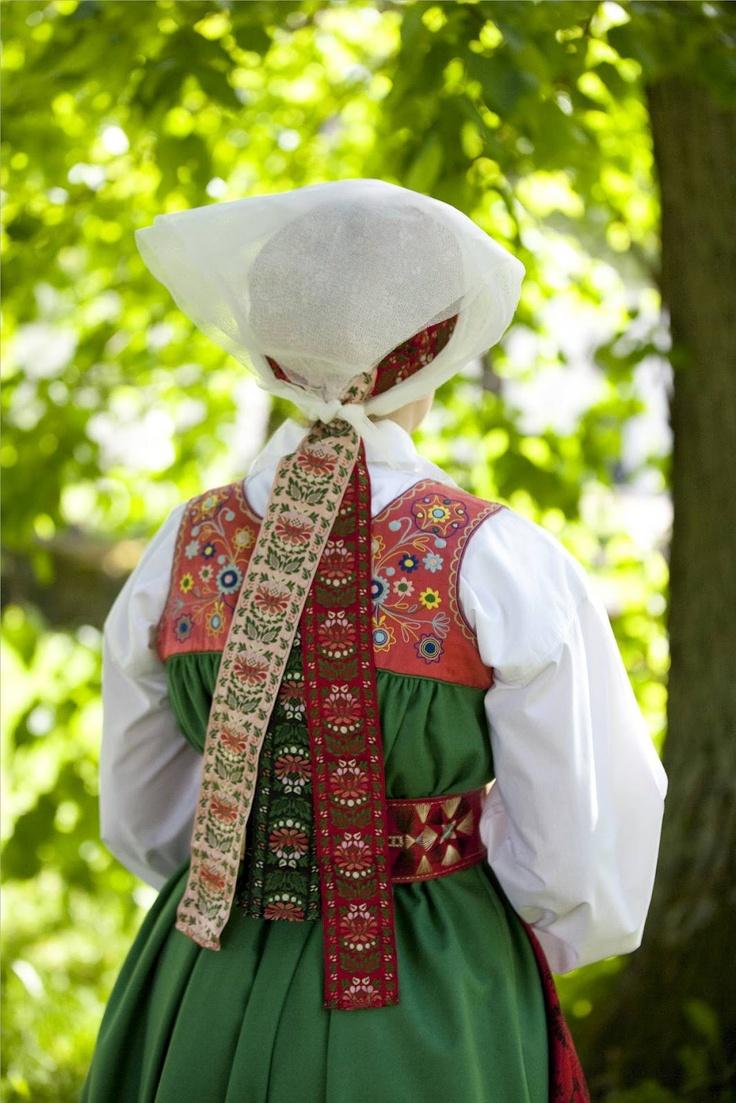 Traditional costume from Vingåker, Södermanland, Sweden