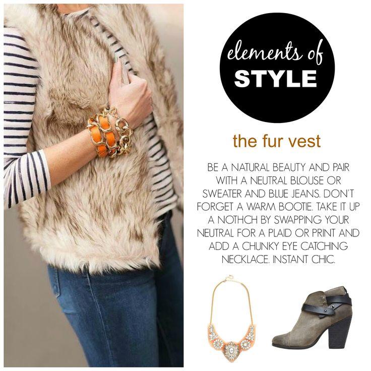 Stylist Tip: the fur vest