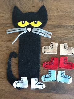 Felt Board Ideas: Pete the Cat (shoes) Felt Board Story: Printable Template