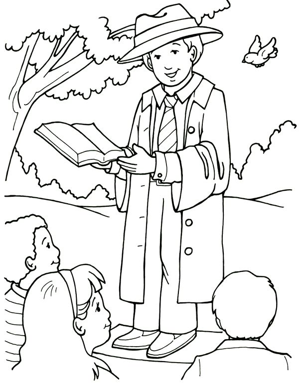 people following jesus coloring pages - photo#27