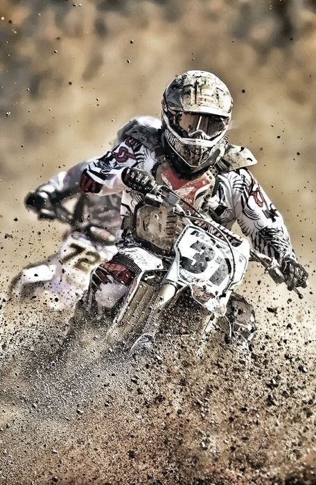 "MOTOCROSS - Because ""...any day riding beats any day at work"""