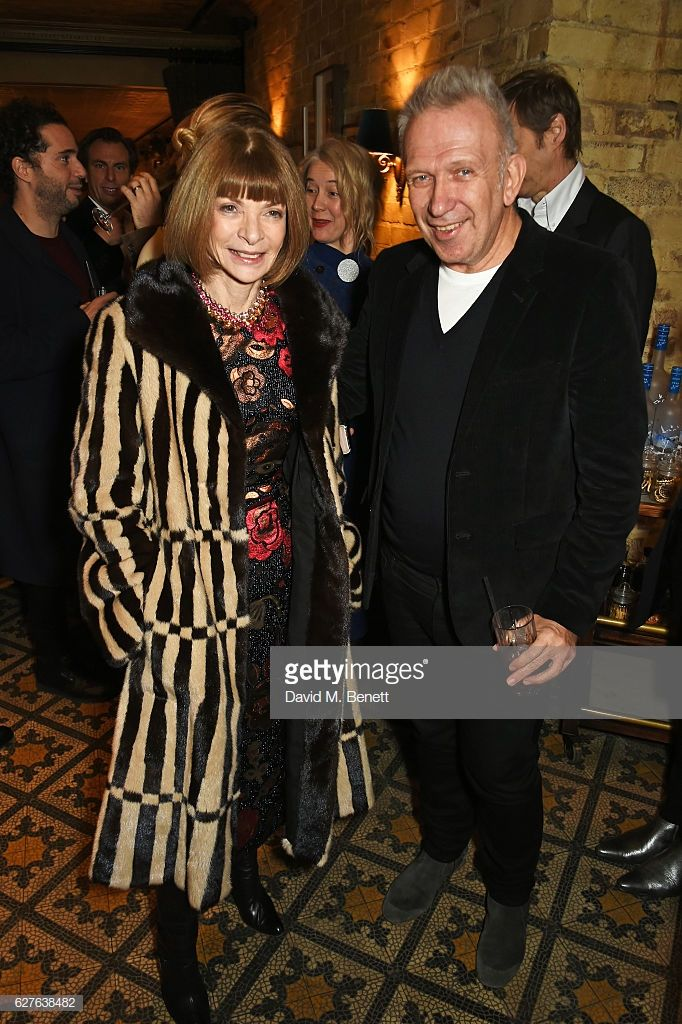 Anna Wintour (L) and Jean-Paul Gaultier attend The Fashion Awards in  partnership with Swarovski nomineesu0027 lunch hosted by the British Fashion  Council with ...