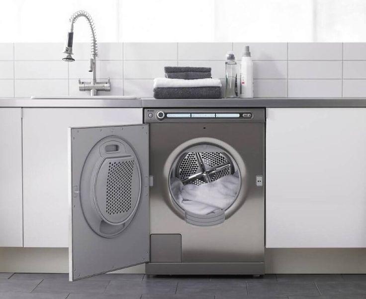 Встроенная стиральная машина на кухне: советы по выбору и 60+ оптимальных вариантов размещения http://happymodern.ru/vstroennaya-stiralnaya-mashina/ Встроенная стиральная машина, в которой крышка барабана вмонтирована в дверцу