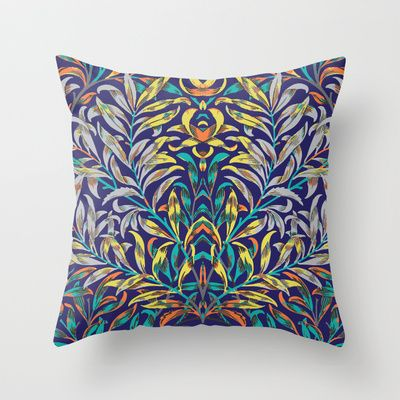 Leafy and Jykell Throw Pillow by Geetika Gulia - $20.00