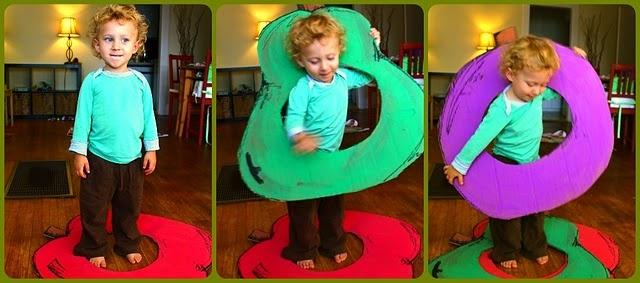 cardboard props to reenact hungry caterpillar