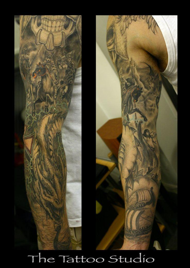Viking Warrior Tattoo Sleeve