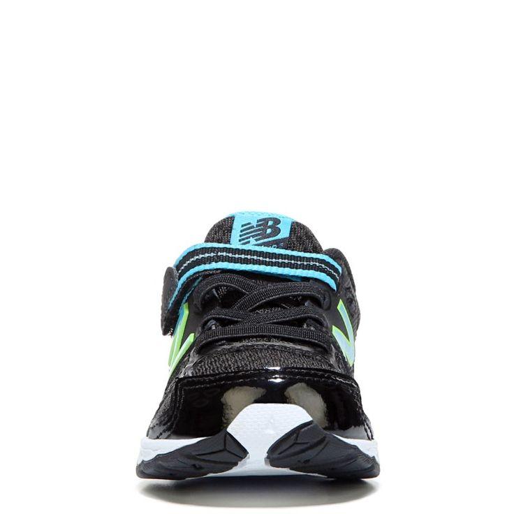 New Balance Kids' KA680 Medium/Wide/X-Wide Sneaker Baby/Toddler Shoes (Black/Blue Leather) - 3.0 2W