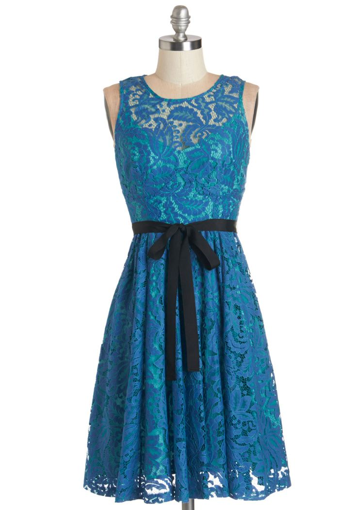 Plenty by Tracy Reese Moonlit Lagoon Dress. The best part of your seaside vacay the moon shining on the lagoon, creating brilliant hues of cobalt and aquamarine, just like the shades of your Plenty by Tracy Reese dress! #blue #wedding #bridesmaid #modcloth