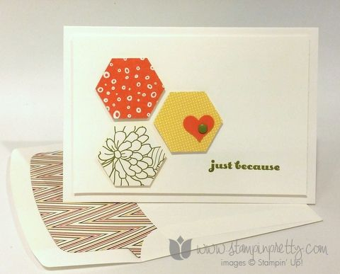 Stampin up stamping pretty and many more park lane paper hexagon punch card ideas simple blog demonstrator