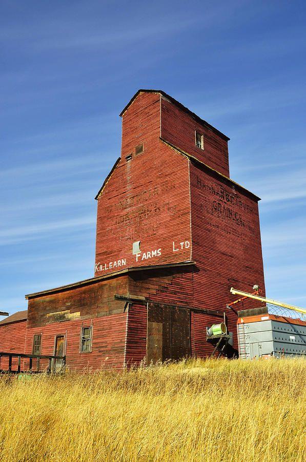 old grain elevators   The Old Grain Elevator Photograph