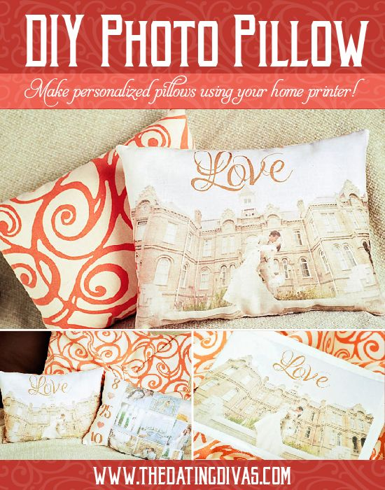 Create your own personalized photo pillow from your home printer! Seriously? I have so many pictures I want to do this with! What a great Christmas present idea too!
