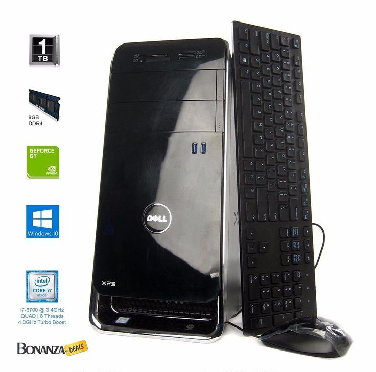 Dell XPS 8900 Desktop - Intel Core i7-6700 3.4GHz Quad Core, 1TB | 8GB | GT730