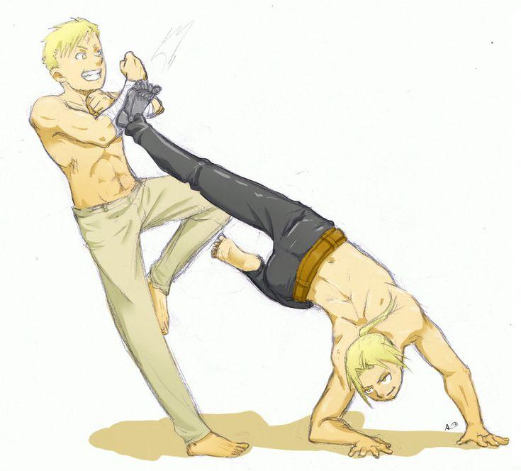 two blonds fighting by Socij.deviantart.com on @deviantART